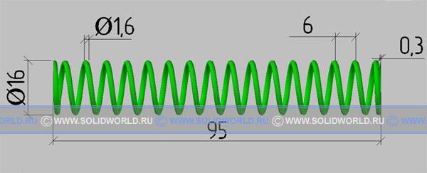 3d модель пружины сжатия