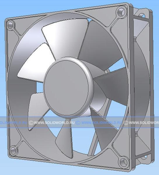 3d модель в Inventor кулера
