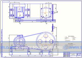 Сборочный чертеж компас 3d - Привод шкурообдирочной машины