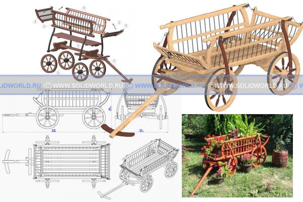 Чертежи телеги (повозки) - как сделать садовую повозку (телегу) своими руками