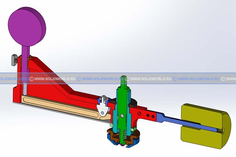 3d модель приставки индикаторной к прессу Бринелля