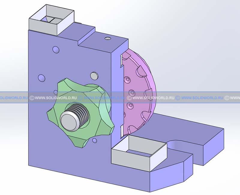 3d модель кондуктора с бункерной загрузкой деталей