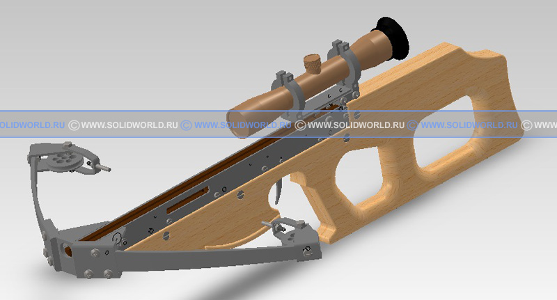 3d модель solidworks - Арбалет