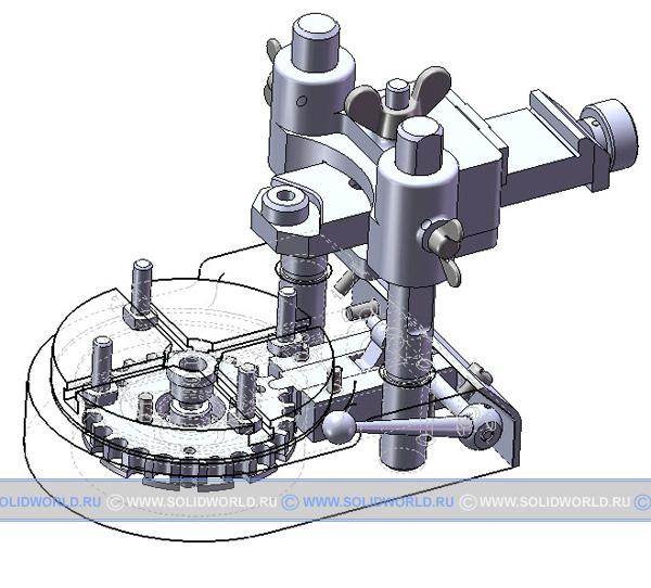 3d модель кондуктора с делительным столом