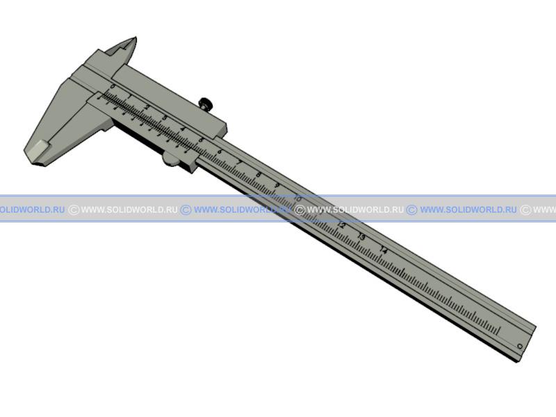 3d модель штангенциркуля