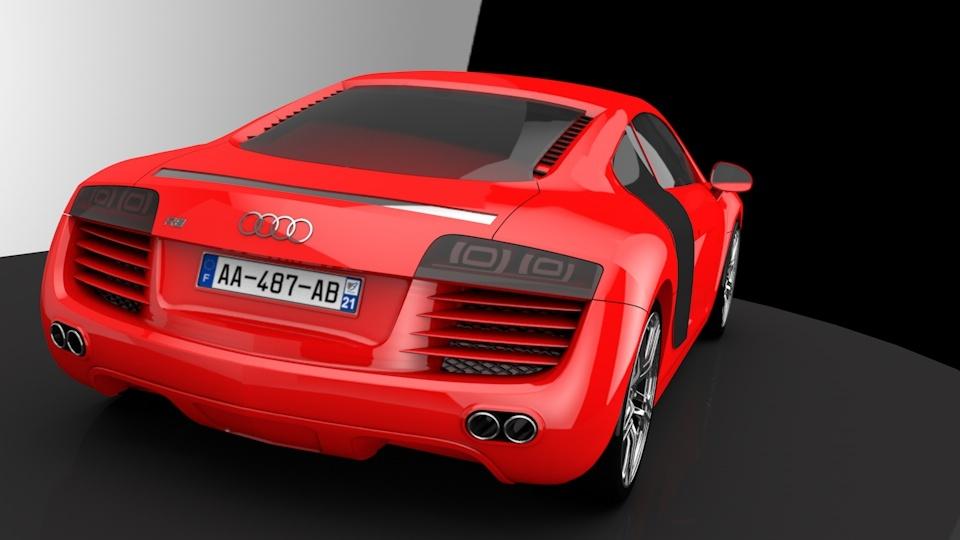 3d модель автомобиля Audi R8, выполненная  в solidworks