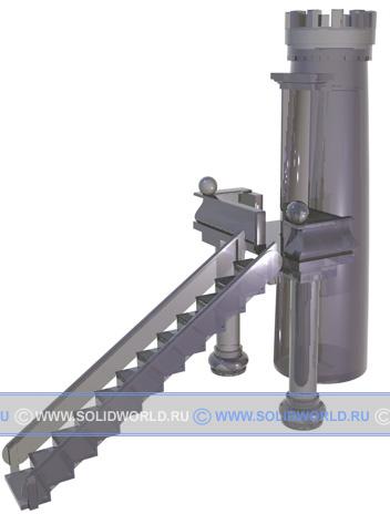 3d модель solidworks - башня