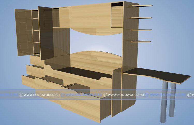 3d модель детской комнаты.
