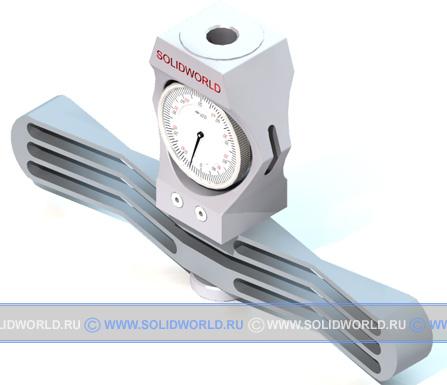3d модель solidworks - динамометр