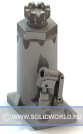 3d модель домкрата