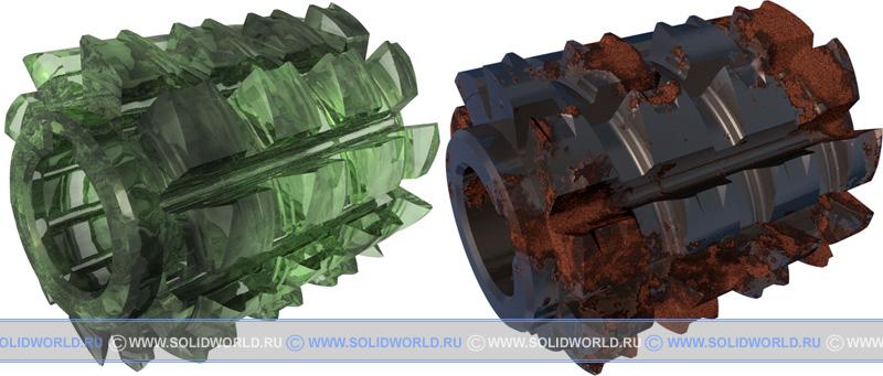 3d модель фреза шлицевая, solidworks