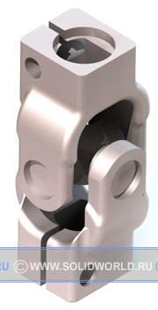 3d модель solidworks - кардан