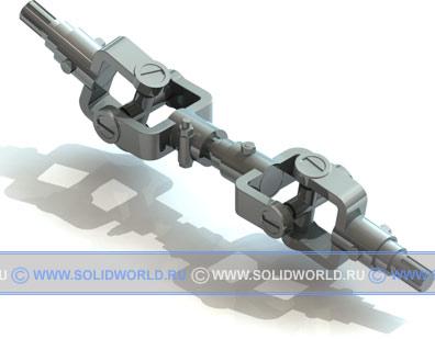 3d модель кардана, выполненная в solidworks