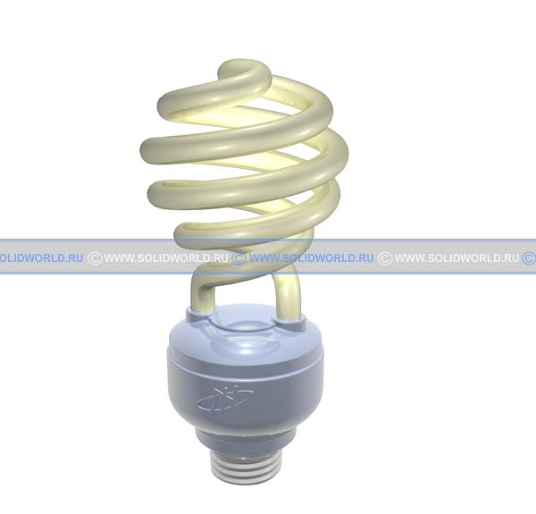 3d модель solidworks - Энергосберегающая лампа