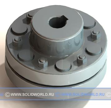 модель solidworks - муфта фланцевая