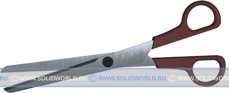 3d модель ножниц.