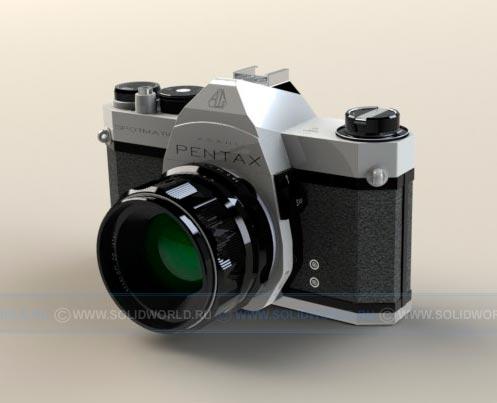 3d модель фотоаппарата, выполненная в solidworks
