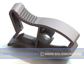 3d модель прищепки, выполненная в solid works