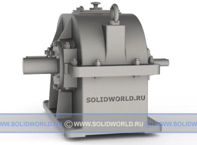 3d модель solidworks - цилиндрический редуктор