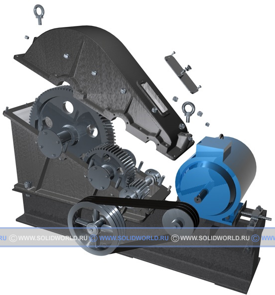 3d модель редуктора