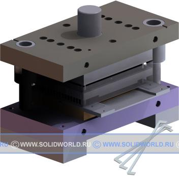 3d модель solidworks - Штамп последовательного действия