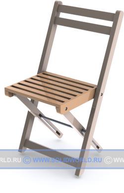 Модель складного стула.