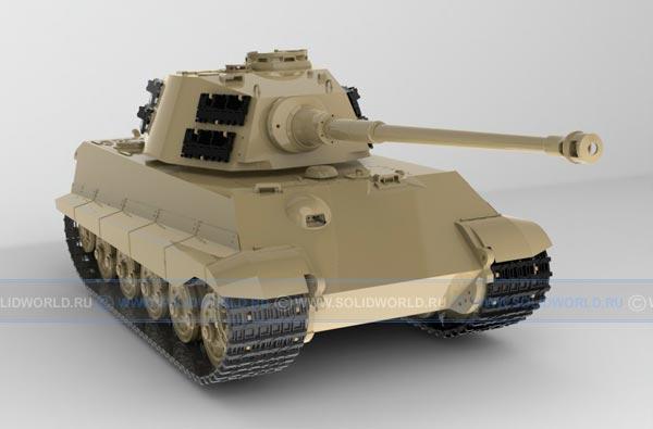 3d модель танка, выполненная в solidworks