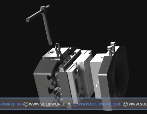 3d модель прессформы УПФ-10А, выполненной в solidworks
