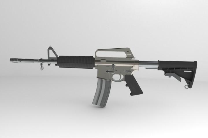 3d модель винтовки AR 15 в solidworks
