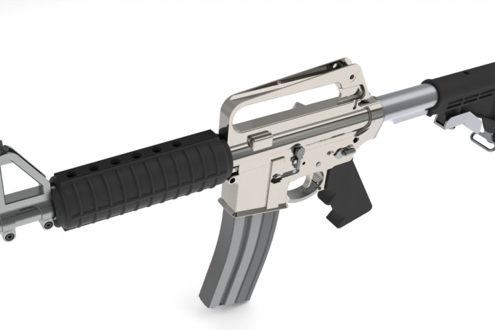 3d модель винтовки AR15